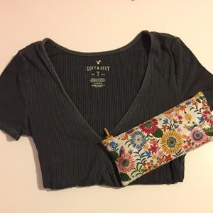 American Eagle Outfitters Tops - •American Eagle Deep V Top•